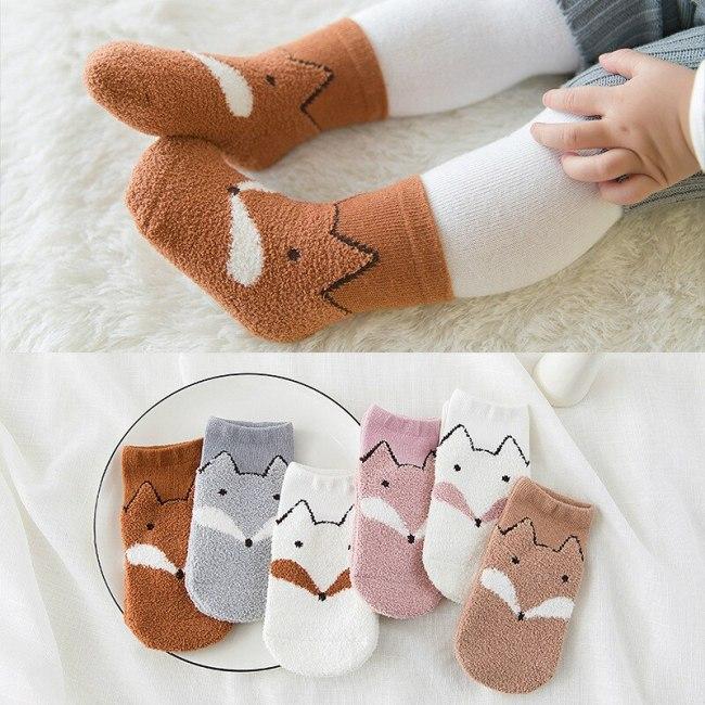 3 Pairs/lot Children's Super Soft Warm Socks Feather Yarn Short Socks