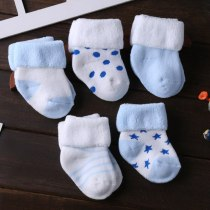5Pairs/lot Infant Baby Socks Cotton Newborn baby Toddler Dot Socks