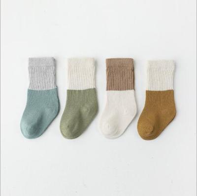 4Pairs/lot baby socks autumn and winter boneless loose mouth baby tube socks