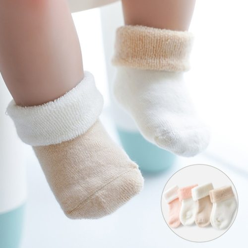 2Pair/lot autumn and winter thick baby newborn socks warm baby foot socks