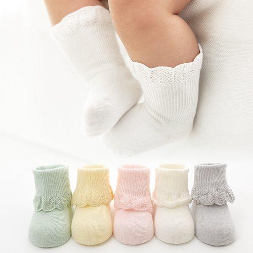 Baby Socks Cotton Princess Socks Toddler Infant Kids Solid Cute Fashion Short Boat Sock