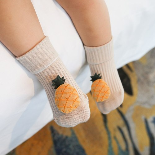 Cotton Baby Socks Cartoon Fruit Newborn Socks Rubber Anti Slip Infant Floor Socks