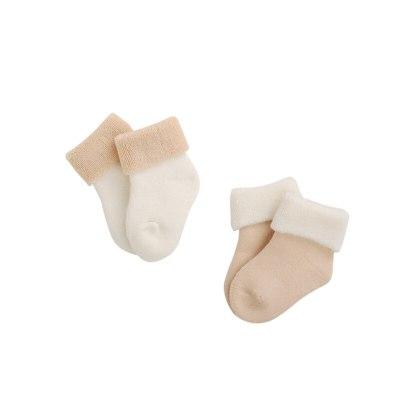 2Pair/lot autumn and winter thick baby newborn socks warm baby foot socks