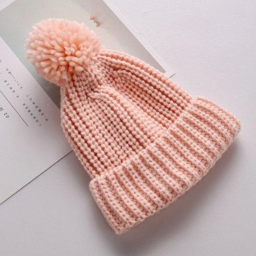 Baby Toddler Knitted Hat Winter Infant Pompom Cap Crochet Beanie Knit Cap
