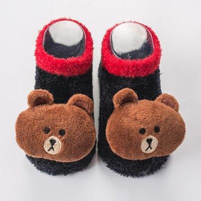 Newborn Baby Anti Slip Socks Winter Warm Thick Infant Baby Cartoon Christmas Socks