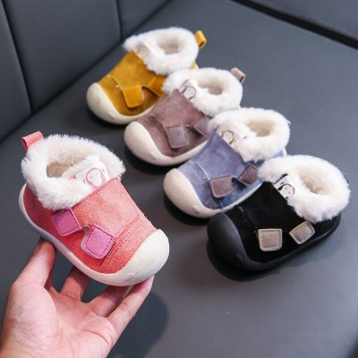 Winter Baby Shoes Sneaker Cotton Soft Anti-Slip Sole Newborn Infant First Walkers Casual Fur Push Toddler Shoes