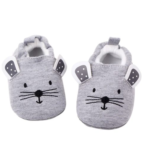 Newborn Infant Baby Slippers Soft Sole Non Skid Crib House Shoes Cute Animal Winter Warm Booties