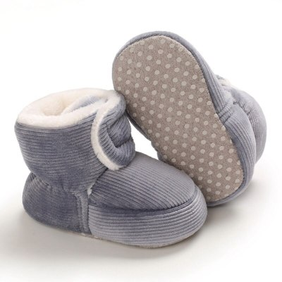 Baby Newborn First Walkers Unisex Faux Fleece Bootie Winter Warm Infant Toddler Crib Shoes