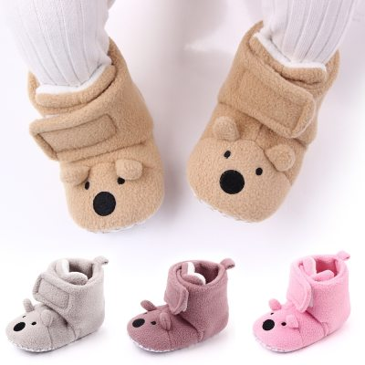 Warm Newborn Toddler Boots First Walkers Baby Soft Sole Fur Snow Booties 0-12M