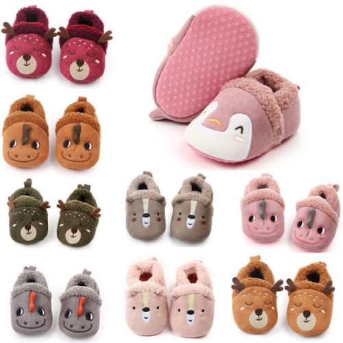Baby Shoes Toddler Non-Slip Warm Soft Fleece Shoes Newborn Prewalker
