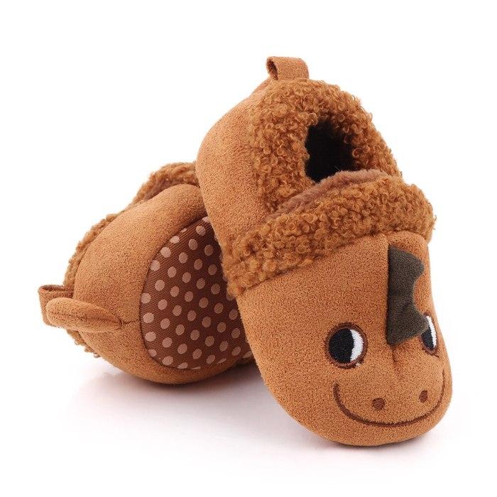 Baby Shoes Toddler Non-Slip Warm Soft Fleece Shoes Newborn Prewalker