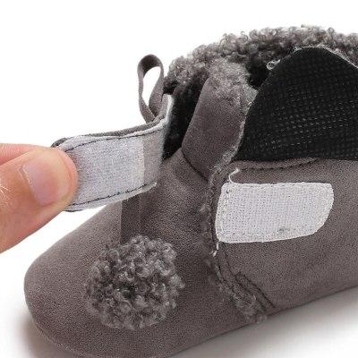 Fashion Winter Baby Infant 0-18 Months Cotton Shoes Plush Warm Boots