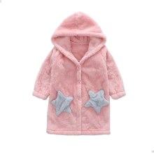 Girls' Home Wear Nightgown Sleeping Dress Winter Bathrobe Flannel Nightdress Warm Pajamas