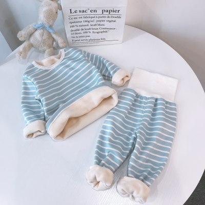 Children Pajamas Sets Baby Clothing Sweatshirt Waist Pants Set Toddler Kids Warm Suit Clothes