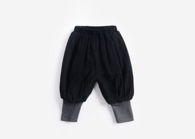 Children's wear bloomers and velvet with thick cotton baby pants ruffle leggings