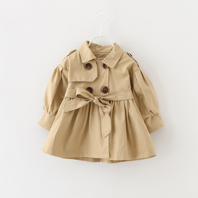 Baby Jacket Girl Baby Coat Baby Trench Double Breast Windbreaker for Girl Kids Jacket