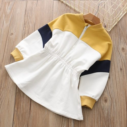 Children's wear girl's color dress children's sports Long Sleeve Dress