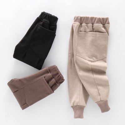 Patchwork Girl's Pants Casual Style Sweatpants Childrens' Clothing Girl