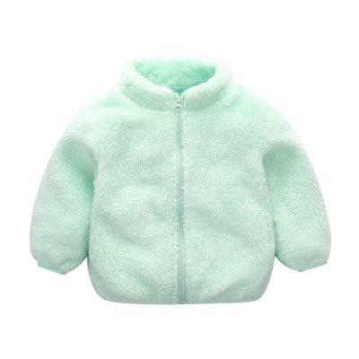 Baby winter jackets Infant Girls Cute Zip Solid Warm Thick Fleece Coat Soft Winter Outerwear