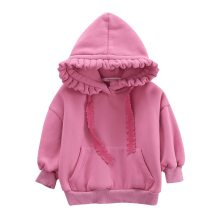 Winter Girls wear floral hoods fleece padded coat children's clothing clothes
