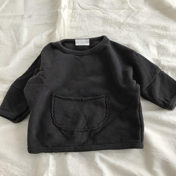 Children's clothing autumn girls' westernized Korean pocket sweater top