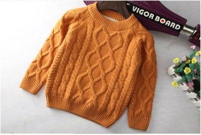 Children's clothing plus velvet thickening winter baby pullover Children's sweater