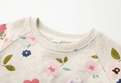 Autumn children's wear Korean version girl's sweater bottoming shirt flower collar sweater