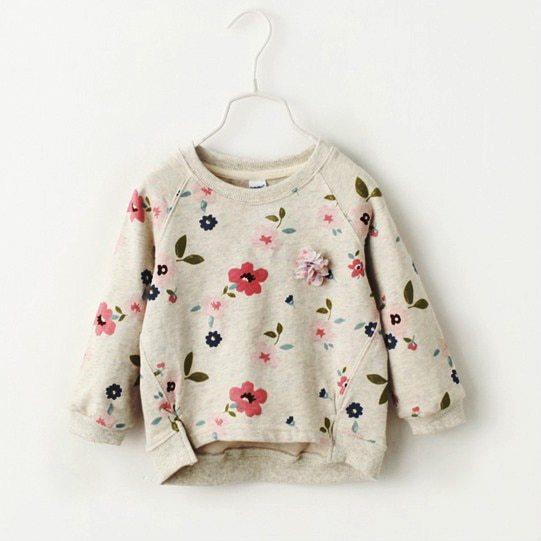 Autumn children's wear Korean version girl's sweater bottoming shirt flower collar sweater