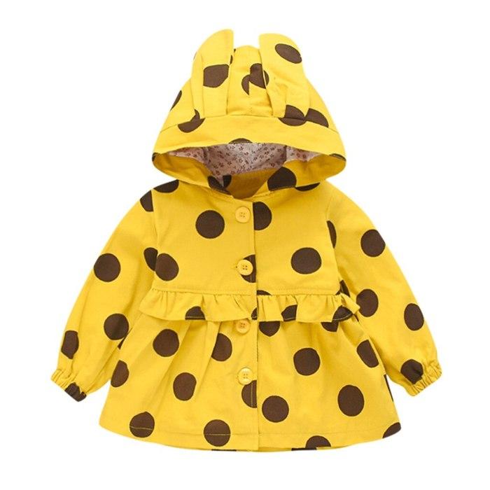 Toddler Baby Girls Jackets Winter Print Windproof Coat Hooded Outwear Jacket Coats