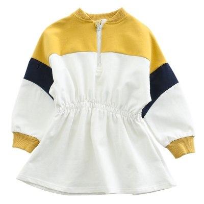 Children's wear girl's color dress children's sports Long Sleeve Dress