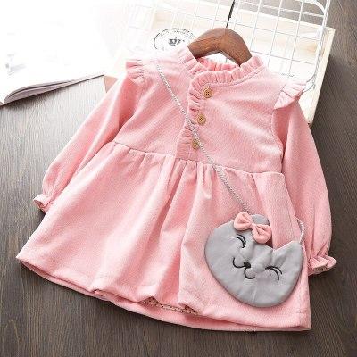 Baby Girls Autumn Winter Long Sleeve Sweater Dress Newborn Birthday Party Dress Infant Baptism Dress