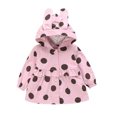 Toddler Baby Girls Jackets Winter Print Windproof Coat Hooded Outwear Jacket Coats