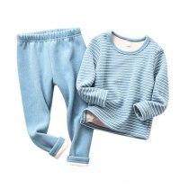 Winter Warm Kids Pajamas Sets Toddler Thicken Sleepwear Flannel Baby Thermal Underwear Suits