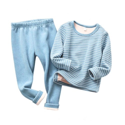 Winter Warm Kids Pajamas Sets Toddler Thicken Sleepwear Flannel Baby Thermal Underwear Suits