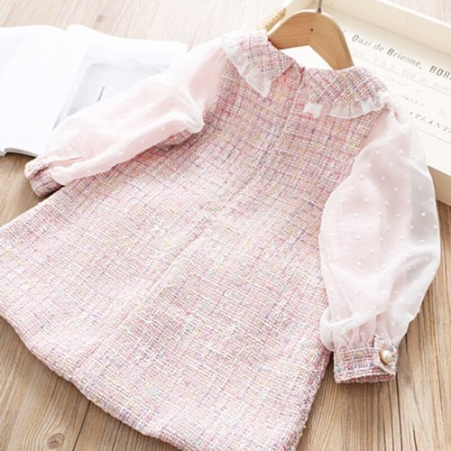 Infant Dress kids winter dresses for girls linen cotton Baby girls clothes 1-5 yrs