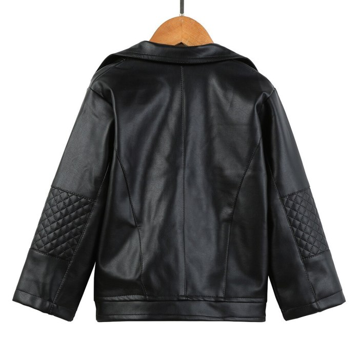 Autumn Winter Baby Girl Kids Outwear Leather Coat Short Clothes Children's Jackets