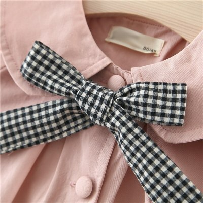 Baby Girl Coats Newborn Baby Clothes Plaid Bow Coat Infant Toddler Outwear