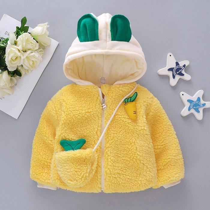 Girls Cute Winter Windproof Coat Cartoon Hooded Warm Casual Outwear Jacket