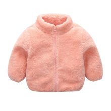 Baby winter jackets Infant Girls Cute Zip Solid Warm Thick Fleece Coat Soft Winter Outerwear