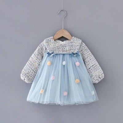 Baby Girls Dress Long Sleeve Princess Dresses Birthday Party Dress Newborn Infant Clothing