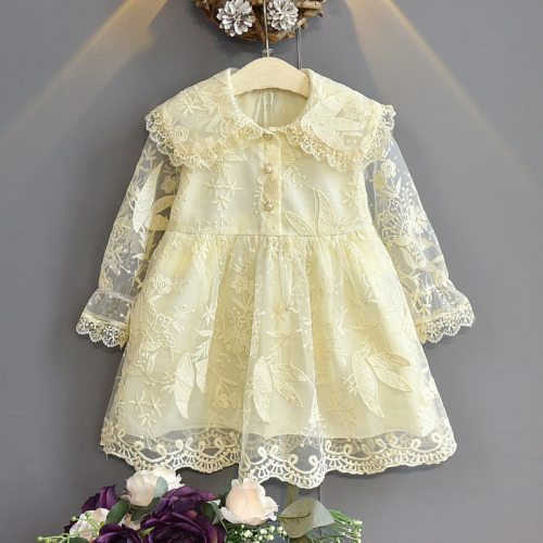 Girls Fashion Lace Dress Kids Party Dress Long Sleeve Kids Clothes Little princess dress