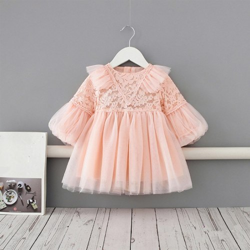 Baby Girl Princess Lace Dress Party Birthday tutu Dress Baptism Wedding Dresses Newborn Clothes