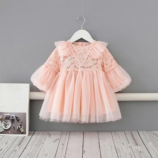 Baby Girl Princess Lace Dress Party Birthday tutu Dress Baptism Wedding Dresses Newborn Clothes