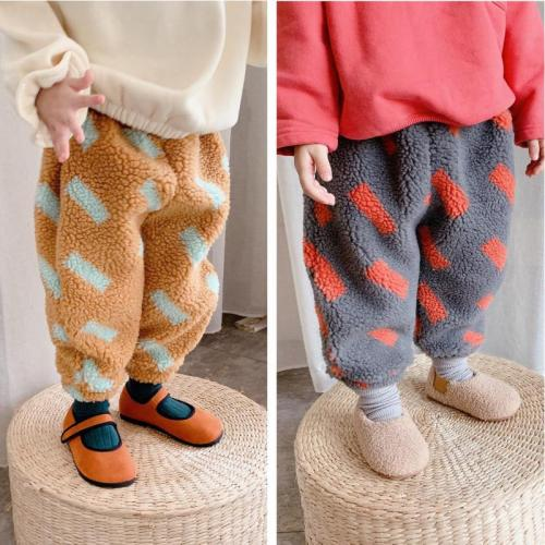 Fashion Baby Pants Trousers Plus Velvet Thick Warm Winter Baby Children's Kids Trousers