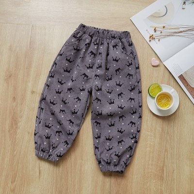Winter Autumn Children Pants Corduroy Trousers For Kids Colored Sports Pants Bloomers