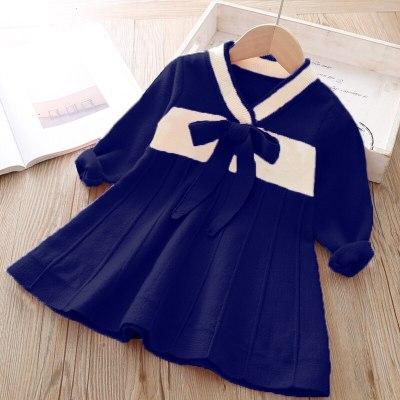 Girls Sweater Dress Long Sleeve Knit Dress Princess Of The Little Girl