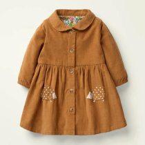 Kids girls children's dress baby girls clothes Cotton Hedgehog applique toddler girl dresses