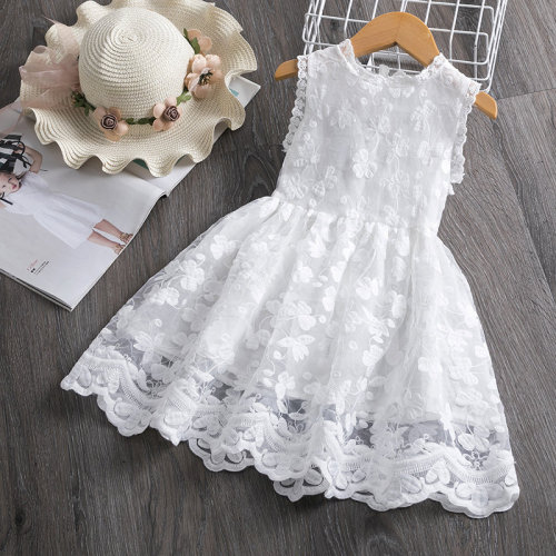 Kids Girls Lace Dress Party And Elegant Floral Princess Prom Bridesmaid Frocks Children's Clothing