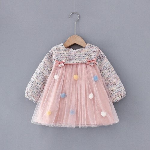 Baby Girls Dress Long Sleeve Princess Dresses Birthday Party Dress Newborn Infant Clothing