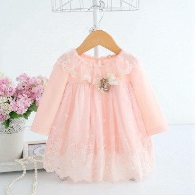 Baby Girls Princess Dress For Newborn Infant Clothing Cute Cotton Long Sleeve Baby Dress